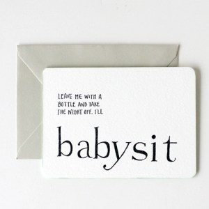 IOU Letterpress Promisory Notes Babysit 300x300 Quick Pick: IOU Letterpress