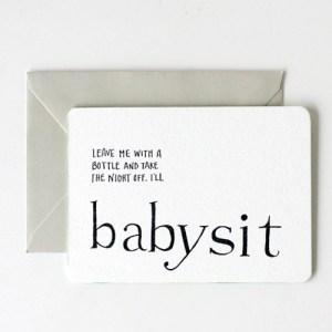 IOU Letterpress Promisory Notes Babysit 300x300 Quick Pick: IOU Letterpress