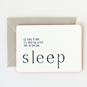 IOU Letterpress Promisory Notes Sleep 300x300 Quick Pick: IOU Letterpress