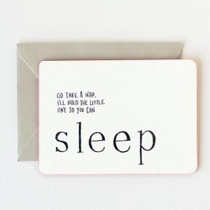 IOU Letterpress Promisory Notes Sleep 300x300 Quick Pick: IOU Letterpress