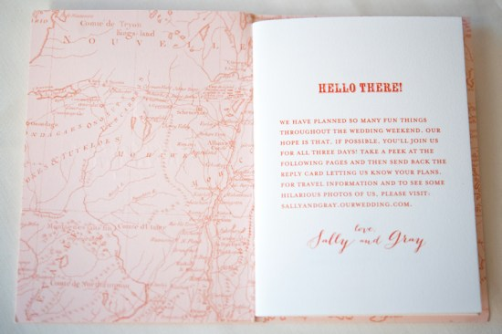 Map Travel Inspired Wedding Invitations Gus and Ruby Letterpress12 550x366 Sally + Grays Maine Map Destination Wedding Invitations