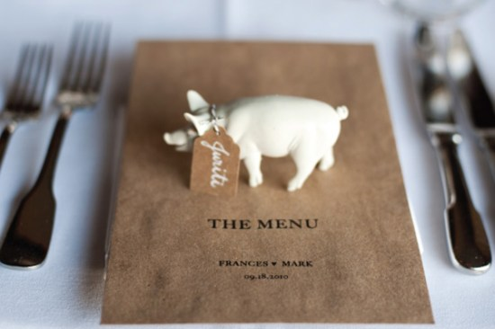 Plastic Animal Place Card Holders Erik Ekroth Photography Hatch Creative Studio 550x366 Wedding Stationery Inspiration: Animal Motifs