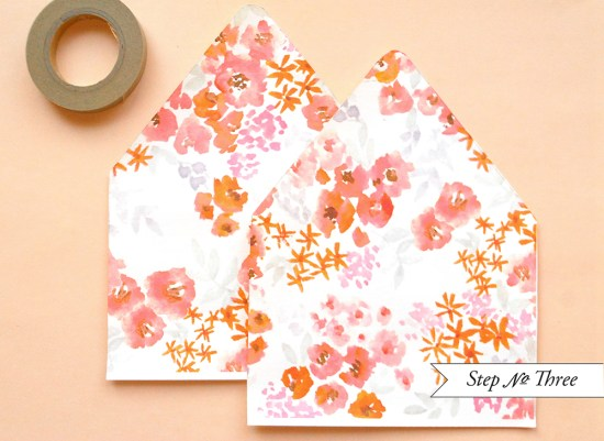 pink dot5 550x401 DIY Tutorial: Pink Polka Dot Watercolor Save the Date