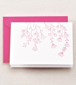 Crane Letterpress Cherry Blossom Thank You Cards 300x336 Seasonal Stationery: Cherry Blossoms