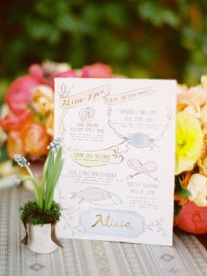 Hand Painted Wedding Invitations Yellow Owl Workshop Jose Villa 300x400 Wedding Stationery Inspiration: Colorfully Illustrated Menus