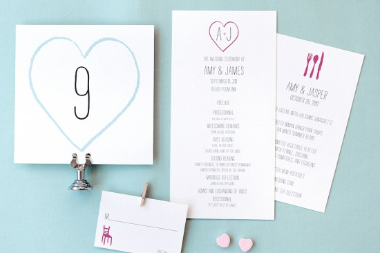 Heart Wedding Details Hello Lucky 550x366 Wedding Stationery Inspiration: Hearts
