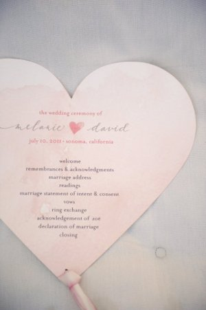 Heart Wedding Program Lucky and Lovely Something Pretty Photography 300x451 Wedding Stationery Inspiration: Hearts