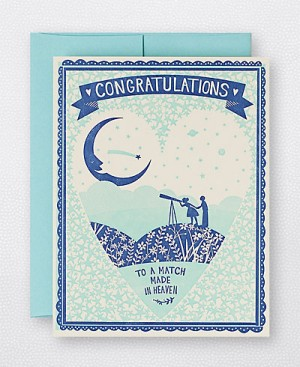 Hello Lucky Match Made Heaven Card 300x367 Stationery A – Z: Engagement Congratulations Cards