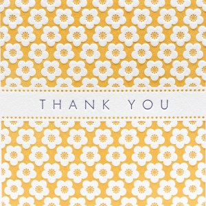 Letterpress Delicacies Cherry Blossom Thank You Card 300x300 Seasonal Stationery: Cherry Blossoms