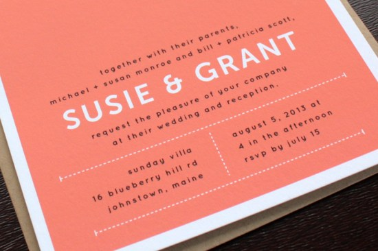 Modern Hand Hold Wedding invitations Up Up Creative4 550x366 Susie + Grants Modern Hand Hold Wedding Invitations