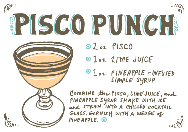 Pisco Punch Recipe Card Caitlin Keegan Friday Happy Hour: Pisco Punch