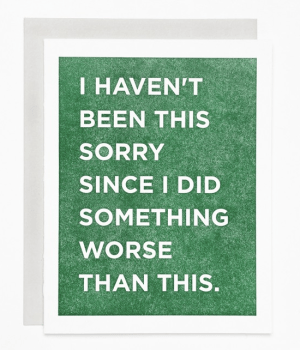 Sycamore Street Press Sorry Card 300x350 Stationery A – Z: Apology Cards