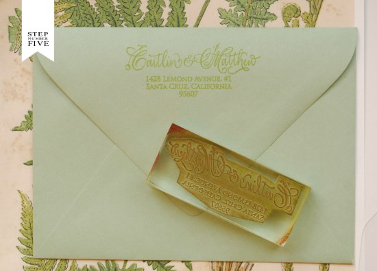 fern 6 550x395 DIY Tutorial: Vintage Fern Wedding Invitations