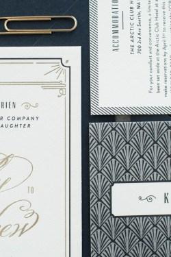 Awesome Art Deco G Foil Wedding Invitations By Carina Skrobecki Design Viaoh So Paper Blakely Glamorous Art Deco Wedding Invitations Art Deco Wedding Invitations Ireland Art Deco Wedding Cards