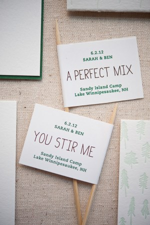 Summer Camp Wedding Invitations Gus Ruby Letterpress12 300x450 Sarah + Bens Summer Camp Inspired Wedding Invitations