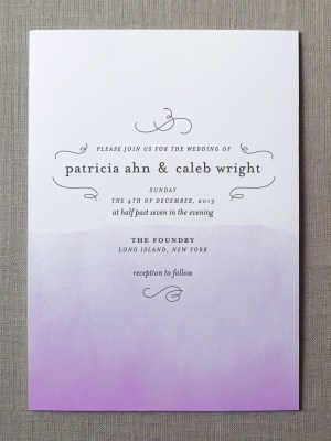 Watercolor Wedding Invitation Collection Fine Day Press5 300x400 Watercolor Wedding Invitations from Fine Day Press
