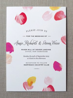 Watercolor Wedding Invitation Collection Fine Day Press6 300x400 Watercolor Wedding Invitations from Fine Day Press