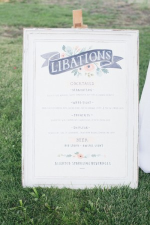 Cocktail Menu Julie Song Ink Rifle Paper Co Onelove Photography 300x450 Wedding Stationery Inspiration: Menu Signs