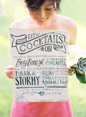 Hand Written Menu Sign Julie Song Ink Jose Villa Wedding Stationery Inspiration: Menu Signs