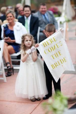 Here Comes the Bride Banner Elizabeth Wertz Photography 300x450 Wedding Stationery Inspiration: Here Comes the Bride Signs
