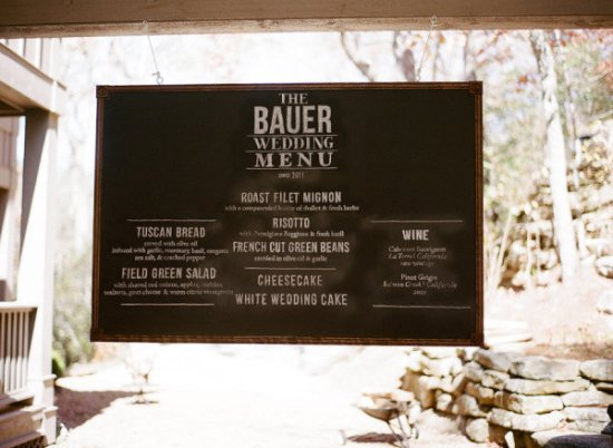 Large Menu Brown Linen Co Ozzy Garcia Photography 550x402 Wedding Stationery Inspiration: Menu Signs