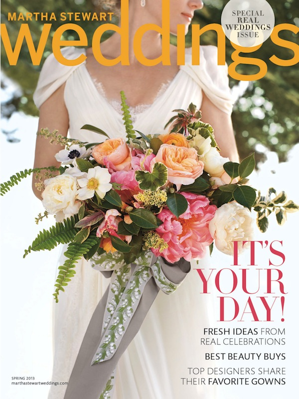 Martha Stewart Weddings Real Weddings Special Issue Spring 2013 Cover Sneak Peek: Martha Stewart Weddings Special Issue