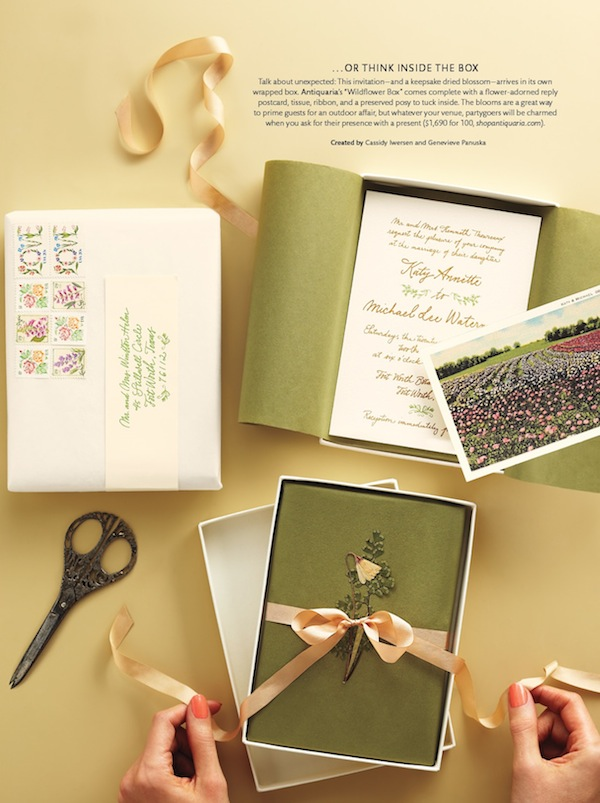 Martha Stewart Weddings Real Weddings Special Issue Spring 2013 Stationery2 Sneak Peek: Martha Stewart Weddings Special Issue