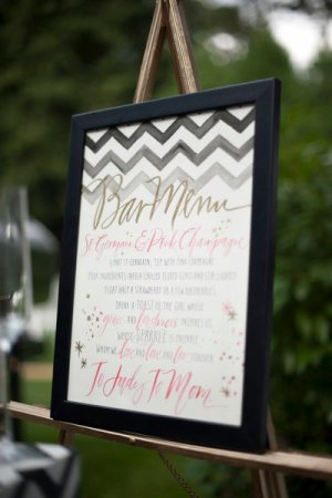 Watercolor Wedding Bar Menu Julie Song Ink Justin Marantz 300x450 Wedding Stationery Inspiration: Menu Signs