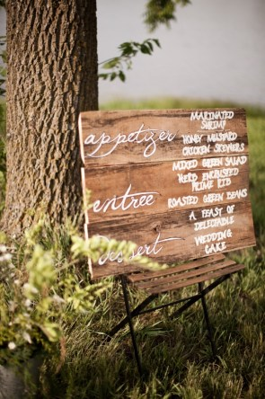 Wood Wedding Menu Cassandra Castaneda Photography 300x450 Wedding Stationery Inspiration: Menu Signs