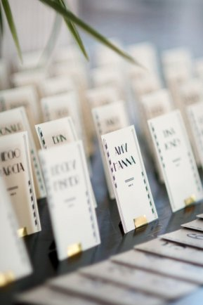 Art Deco Escort Cards Marit Hanson Weddings Locally Grown Weddings 300x451 Wedding Stationery Inspiration: Art Deco