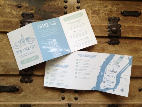 Wedding Weekend Itinerary Anthologie Press 550x412 Wedding Stationery Inspiration: Day of Itineraries