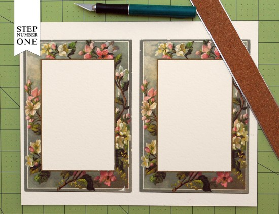 floral border 1 550x422 DIY Tutorial: Vintage Floral Border Save the Date