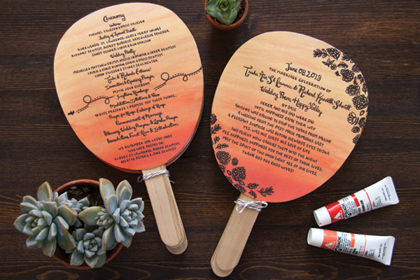 Arizona Desert Sunset Wedding Invitations Lovely Paper Things8 Trisha + Richards Arizona Sunset Wedding Invitations