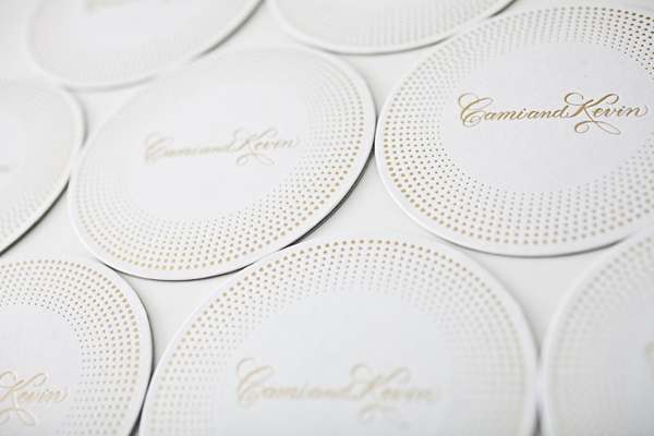 Gold Foil Coasters Bella Figura Wedding Stationery Inspiration: Coasters