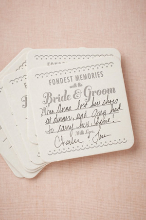 Memory Wedding Coasters BHLDN Wedding Stationery Inspiration: Coasters