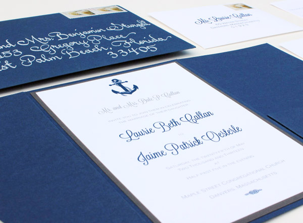 Nautical Anchor Wedding Invitaitons Chirp Paperie5 Laurie + Jaimes Nautical Wedding Invitations
