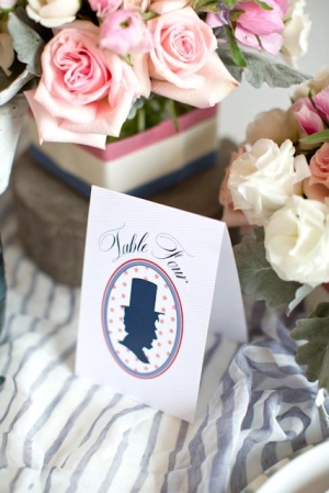 Silhouette Americana Table Numbers Ten Four Paper by Julie Goette Heather Roth Fine Art Photography Wedding Stationery Inspiration: Navy