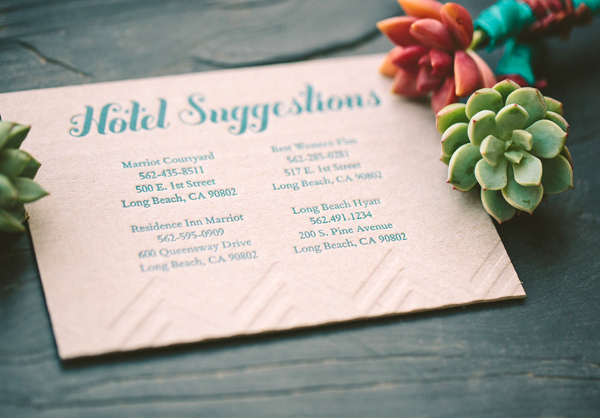Teal Chipboard Chevron Stripe Letterpress Wedding Invitations Metal Doily Press9 Monique + Karls Teal and Chipboard Letterpress Wedding Invitations