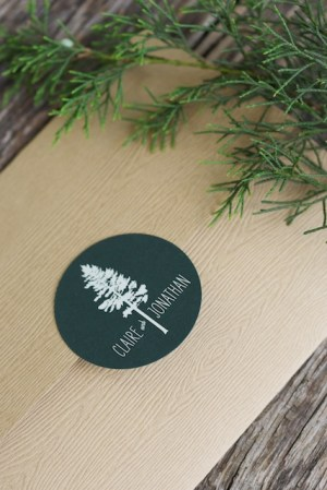 Woodsy Lodge Wedding Invitations Sarah Jane Winter2 300x449 Claire + Johns Woodsy Lodge Wedding Invitations