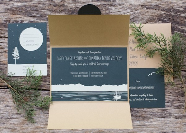 Woodsy Lodge Wedding Invitations Sarah Jane Winter4 600x429 Claire + Johns Woodsy Lodge Wedding Invitations