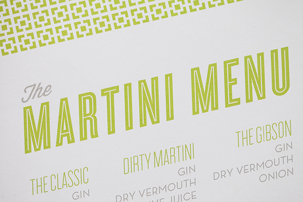 Mid Century Modern Martini Menu Fig 2 Design Katie Stoops Wedding Stationery Inspiration: Palm Springs