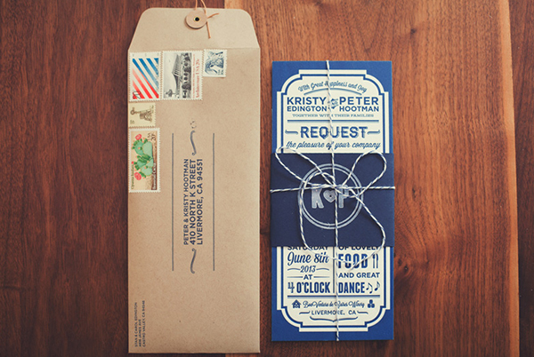 Rustic Barn Letterpress Wedding Invitations Peter Hootman3 Peter + Kristys Rustic Letterpress Wedding Invitations