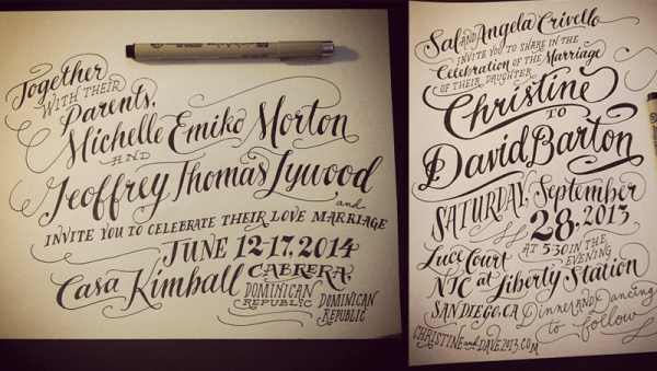 handlettering5 600x339 Hand Lettering with Ladyfingers Letterpress