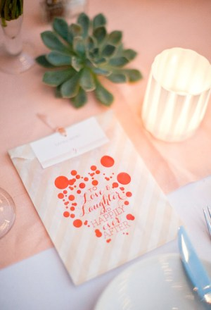 Custom Treat Bags Posh Paperie Annie McElwain 300x440 Wedding Stationery Inspiration: Treat Bags