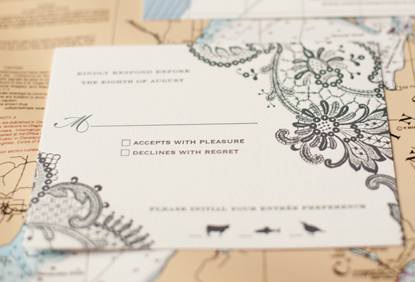 Travel Inspired Letterpress Wedding Invitations Sarah Drake2 Kate + Conors Travel Inspired Letterpress Wedding Invitations