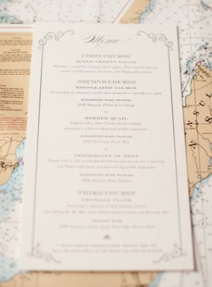 Travel Inspired Letterpress Wedding Invitations Sarah Drake8 300x406 Kate + Conors Travel Inspired Letterpress Wedding Invitations