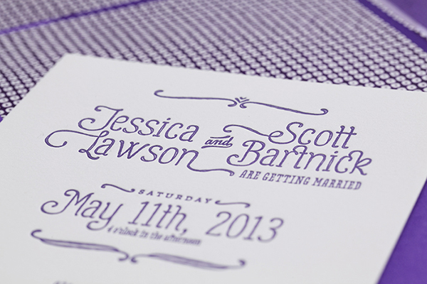Purple Ombre Letterpress Wedding Invitations Cristina Pandol6 Jessica + Scotts Purple Ombre Letterpress Wedding Invitations