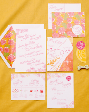 Tropical Floral Wedding Invitations Sparkvites Travis + Lauras Colorful Destination Wedding Invitations