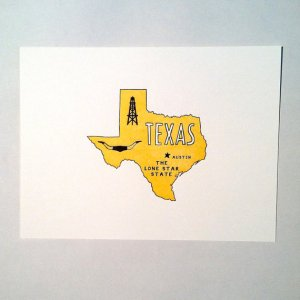Letterpress State Prints Texas Power and Light Press 300x300 Quick Pick: Power + Light Press State Prints