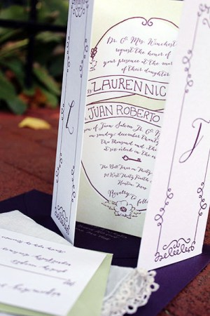 Literary Inspired Letterpress Wedding Invitaitons Typecase Industries4 300x450 Lauren + Juans Literary Letterpress Wedding Invitations